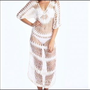 Wildfox A Bikini A Day White Crochet Cover Up 2